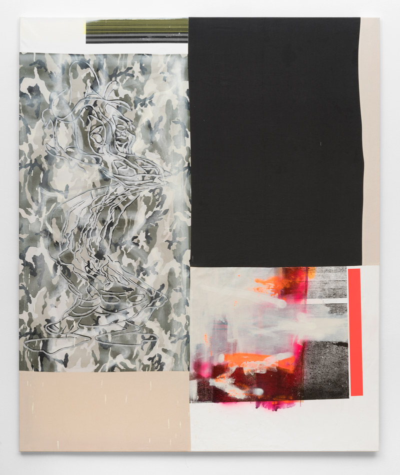 Soft-skills-Andreas-Diefenbach-2017-180-×-150-cm-Mixed-Media-auf-Stoff-und-Leinwand-vernaeht