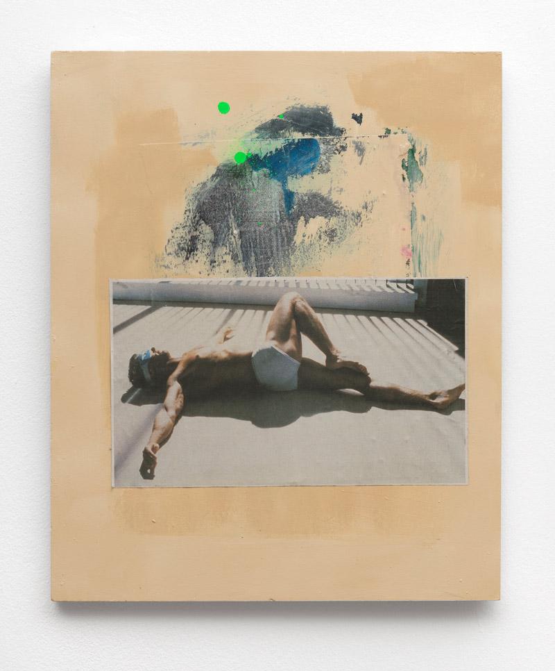 Selbstverfickung,-Andreas-Diefenbach,-2017,-48-×-40-cm,-Collage,-Siebdruck,-Lack-und-Öl-auf-Holz